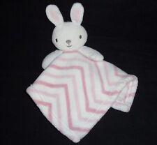Home Fashions Bunny Rabbit Baby Blanket Pink Stripe Chevron RN 119741 Security