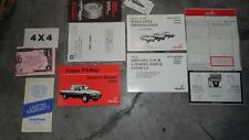 1993 Isuzu Pup Pickup Owners Manual 93 Owner'S Plus Other Stuff Oem