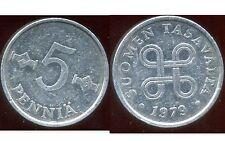 FINLANDE 5 pennia  1979