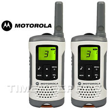 6 KM Motorola TLKR T50 Walkie Talkie 2 due vie PMR 446 Compatto Radio Twin Set