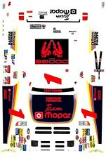 #1 Ted Musgrave Dodge Ram NASTRUK 1998 1/32nd Scale Slot Car Waterslide Decals
