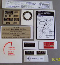 Yamaha RD 250 350 LC Warning Feature decal Kit