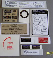 Yamaha RD 250 350 LC advertencia Función Calcomanía Kit