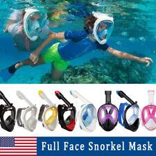 Full Face Snorkel Scuba Cover Underwater Diving 180° View Panoramic Anti Fog USA