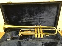 VINTAGE B & M CHAMPION TRUMPET AND CASE MADE IN GERMANY B AND M BRASS GDR