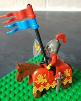 Lego Minifigure and Brown Horse Mounted Knight from Castles Vintage and Rare