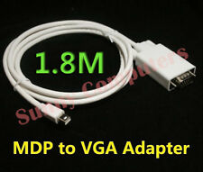 "Mini Displayport MDP to VGA Male Adapter Cable for Macbook Pro 15 13"" iMac 6ft"