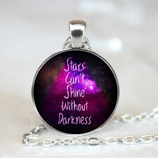 stars can't shine photo Glass Dome Tibet silver Chain Pendant Necklace,Wholesale