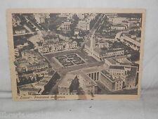 Vecchia cartolina foto d epoca di Latina panorama dall'aereo veduta piazza case