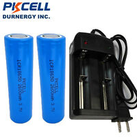 2 x 3.7V 2600mAh ICR 18650 Rechargeable Li-ion Battery  &18650 Smart Charger