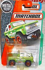 2016 Matchbox Green '72 Ford Bronco 4x4 Diecast 4+ Boys & Girls Thailand