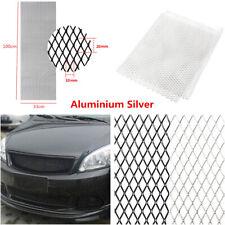 Rhombus Style Silver Aluminum Car Front Bumper Grille Net Mesh Grill 100×33cm