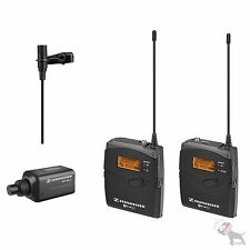 Sennheiser EW100 ENG G3 Band G Wireless Microphones Mic Camera Video Kit