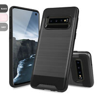 For Samsung Galaxy S10/Plus/S10e Hard Phone Case Cover Brushed Armor Rubber