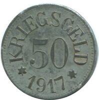 50 PFENNIG 1917 Neustadt Notgeld German States #DE10515.6UW