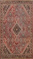 Antique Geometric Mahal Traditional Area Rug Wool Hand-knotted Foyer Carpet 4x7
