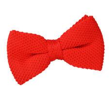 Cravates, foulards et ceintures de cérémonie rouges en polyester pour homme