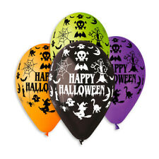 Halloween Latex Balloons 30cm-12in Assorted designs Pack of 10 Party Fun October