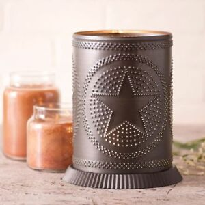 Candle Warmer with Regular Star in Kettle Black Tin