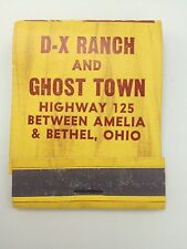 D X Ranch Ghost Town Oh Cowboy Matchbook front strike used