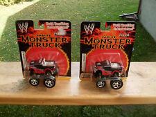 WWE MINI PULL BACK MONSTER TRUCKS (2) *NEW IN PACKAGE*
