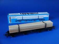 MARKLIN H0 - 4665 - LOG CAR LOADED WITH SQARED TIMBER / BOX - NEW