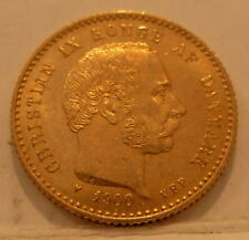 Denmark 1900 VBP Gold 10 Kroner UNC