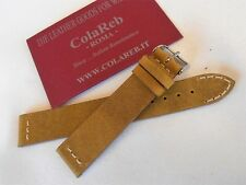Cinturino pelle vintage ColaReb VENEZIA giallo ocra 18mm watch band strap