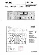 Instrucciones Manual de Servicio Para Saba Vs 2160