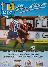 Programme 1998/99 Chemintz FC CZ Jena
