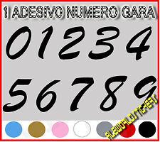 ADESIVO 12 cm NUMERO gara CORSA MOTO GP CROSS Stickers VINILE RACING TUNING F4
