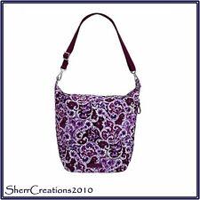 NWT Vera Bradley Carson Hobo Shoulder Bag in Lilac Paisley