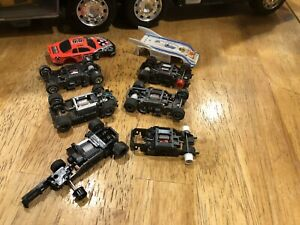 tyco life like slot car chassis&body Untested Lot