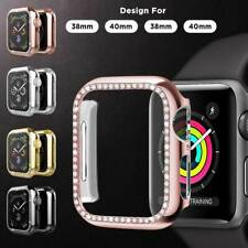 For Apple Watch Series 5/4/3/2/1 Shiny Crystal Diamonds Hard Case Bumper Cover