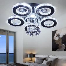 LED Kristall Deckenleuchte, Moderne Kristallkronleuchter,Edelstahl Pendelleuchte