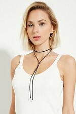 Fashion Women Gothic Velvet Sweater Choker Necklace Long Chain Pendant Jewelry