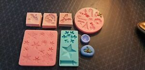 Glass, silicone mould, wax melts, bath bombs, soap,fimo clay,Christmas Themed