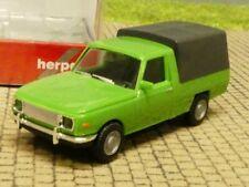 1/87 Herpa Wartburg 353`66 Trans mit Plane grün 420945