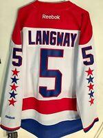 Reebok Premier NHL Jersey Washington Capitals Rod Langway White sz S