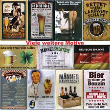Blechschild Schilder 20x30cm lustige Sprüche Metall Bier Männer Geschenke Kneipe