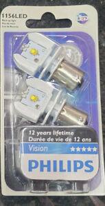 PHILIPS 12898B2 VISION LED 1156 P21 BACKUP LIGHT 2 (PAIR) WHITE BACK UP BULBS
