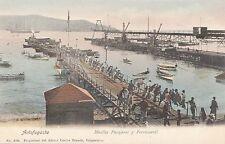 B81562 ship muelle de pasajeros y ferrocarril antofagasta chile front/back image