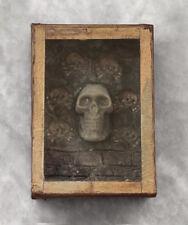 "Antique 1920s memento mori, ""Tödlein"", skull, mourning, vanitas"