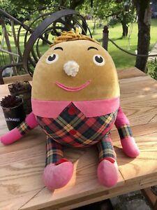 "Rare Vintage 1970s BBC Playschool Humpty Handmade By Minnie King Tartan 22"""