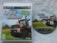 FARMING SIMULATOR PS3 SIMULATION V.G.C. FAST POST ( no games manual included )