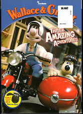 Wallace & Gromit Three Amazing Adventures DVD with Slip Cover, New Sealed
