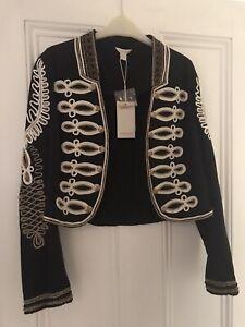 Monsoon Boho Beaded Bolero Style Jacket Size 10 New With Tags