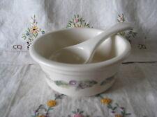 Pfaltzgraff JAMBERRY Dip Bowl incl Ladle Grapevine purples & greens EUC
