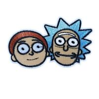 Rick and Morty Heads Iron On Patch Sew on Embroidered New