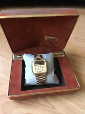 Pulsar led watch Time Computer Calcolatrice WATCH vintage OROLOGIO LCD 1976